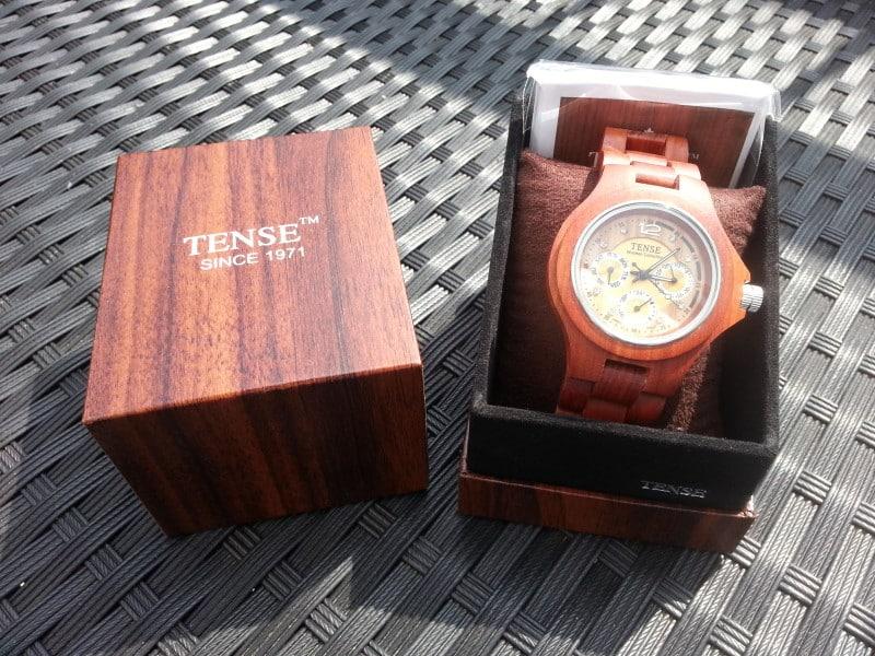 TENSE Holzuhren Box